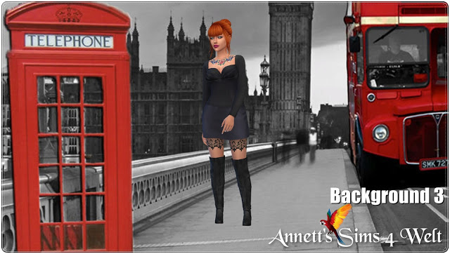 Sims 4 Town Streets CAS Backgrounds at Annett's Sims 4 Welt