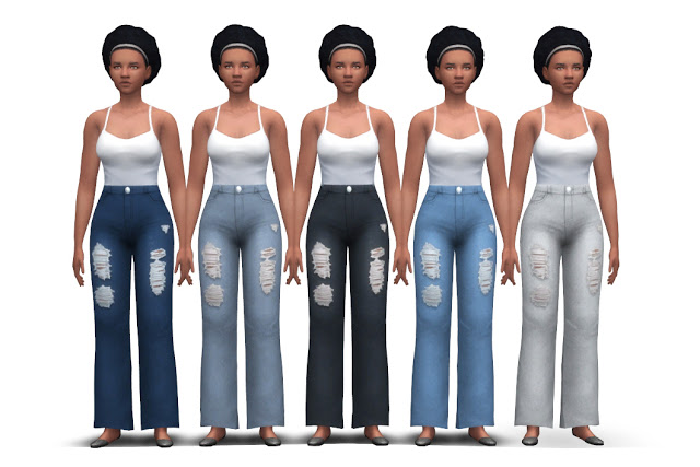 Chunky Jeans (high waist + flared) at Historical Sims Life image 1995 Sims 4 Updates