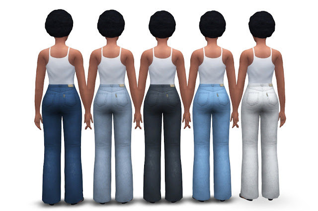 Chunky Jeans (high waist + flared) at Historical Sims Life image 2004 Sims 4 Updates