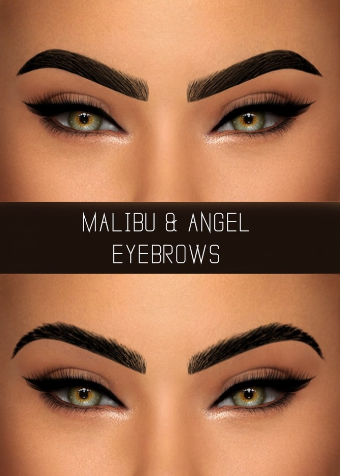 MALIBU & ANGEL EYEBROWS at Simpliciaty image 2007 670x938 Sims 4 Updates