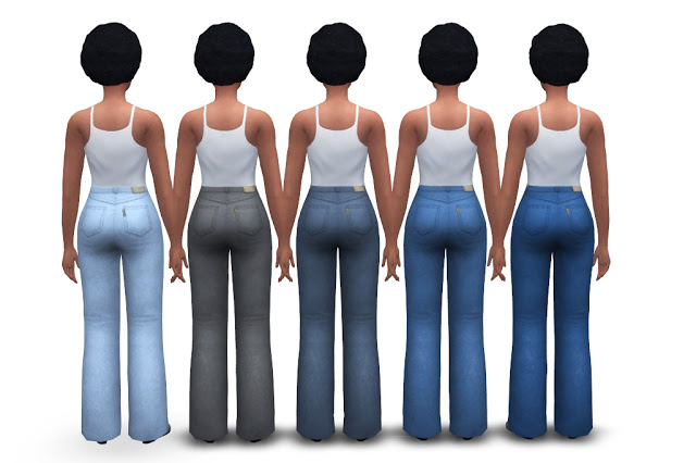 Chunky Jeans (high waist + flared) at Historical Sims Life image 20111 Sims 4 Updates