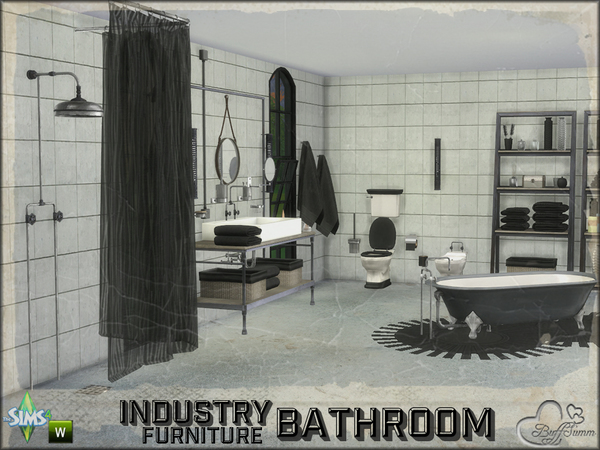 Bathroom Industry Furnitures by BuffSumm at TSR image 2012 Sims 4 Updates