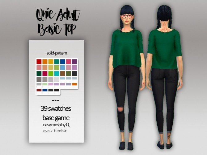 Sims 4 Basic Top at qvoix – escaping reality