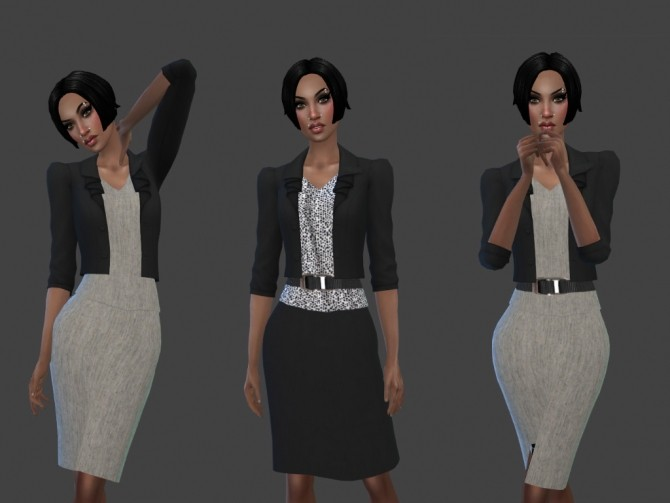 Sims 4 Day at the Office Outfit at Teenageeaglerunner