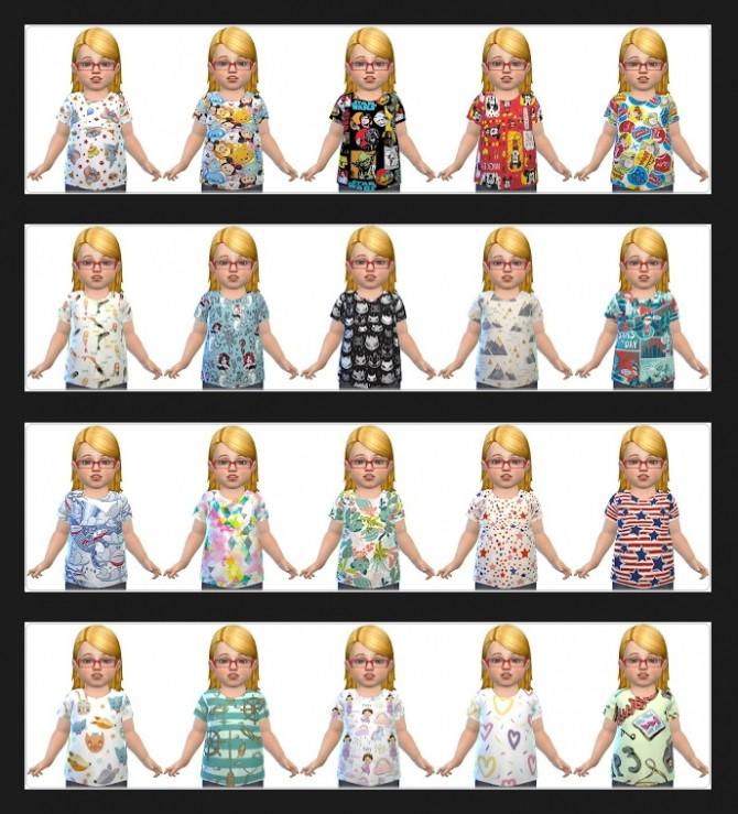 Sims 4 Mega Pack 40 Toddler Shirts at Annett's Sims 4 Welt