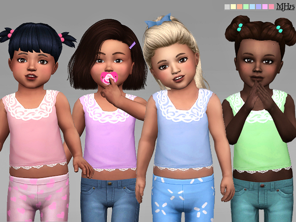 Sims 4 Tiny Tots Toddler Tops by Margeh 75 at TSR