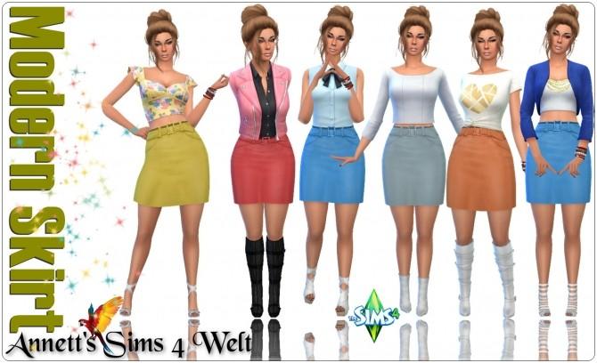 Sims 4 Modern Skirt at Annett's Sims 4 Welt