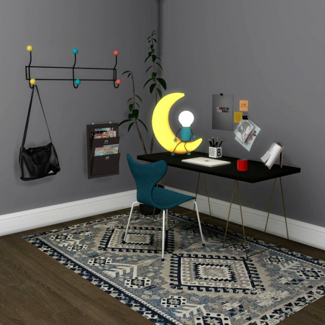 Moon Table Lamp at Leo Sims image 2043 670x670 Sims 4 Updates