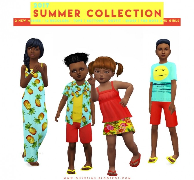Sims 4 Summer Collection 2017 at Onyx Sims