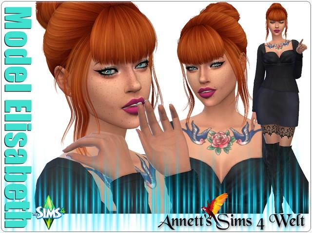Sims 4 Model Elisabeth at Annett's Sims 4 Welt
