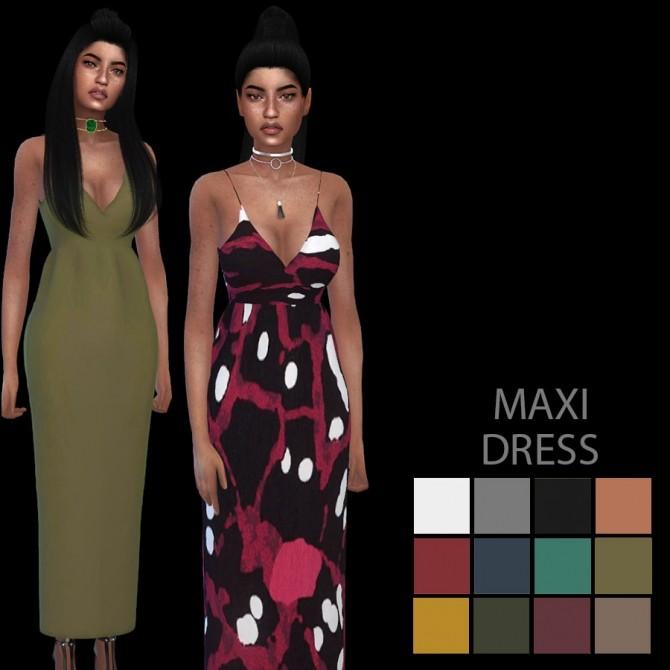 Sims 4 Maxi Dress at Leo Sims