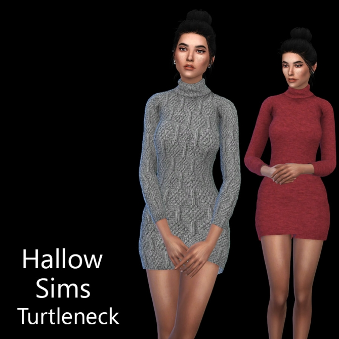 Turtleneck Dress At Leo Sims 187 Sims 4 Updates