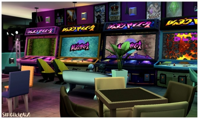Galaxy Gaming Center At Simelicious 187 Sims 4 Updates