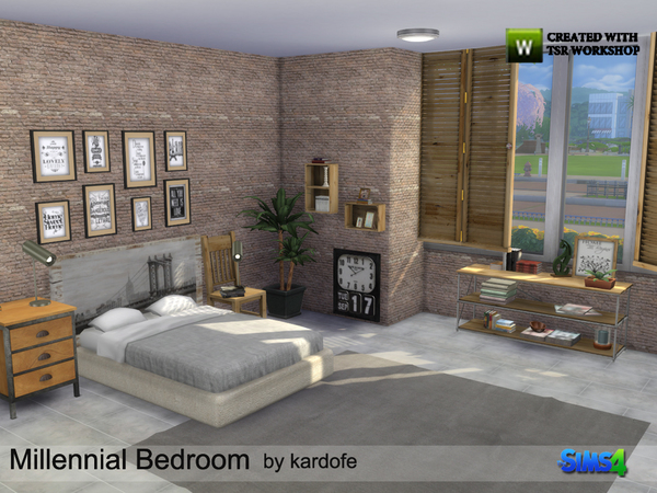 Millennial Bedroom by kardofe at TSR image 21 Sims 4 Updates