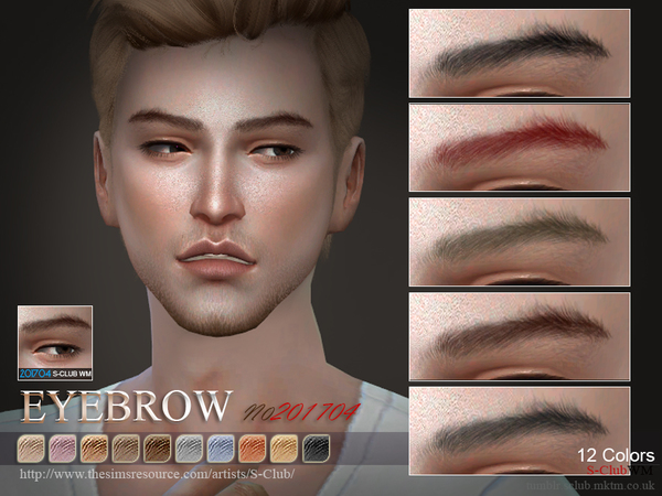 Eyebrows M 201704 by S Club WM at TSR image 2105 Sims 4 Updates