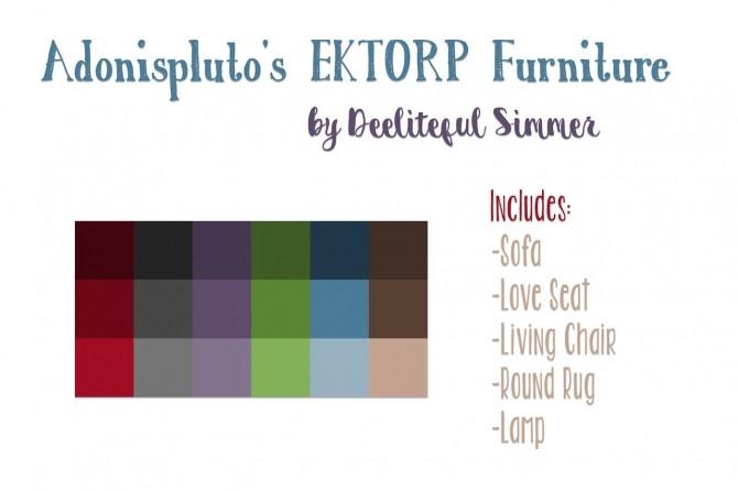 Adonisplutos Ektorp furniture recolors at Deeliteful Simmer image 2106 670x446 Sims 4 Updates