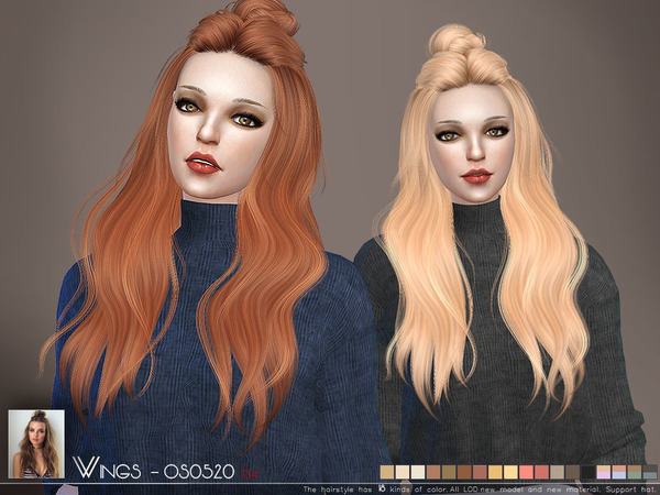 Sims 4 OS0520 hair by Wings Sims at TSR