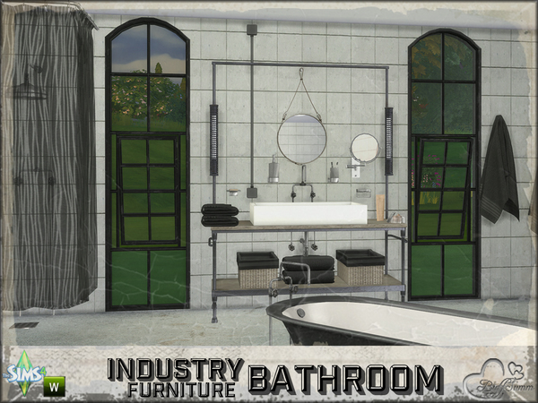 Bathroom Industry Furnitures by BuffSumm at TSR image 2112 Sims 4 Updates