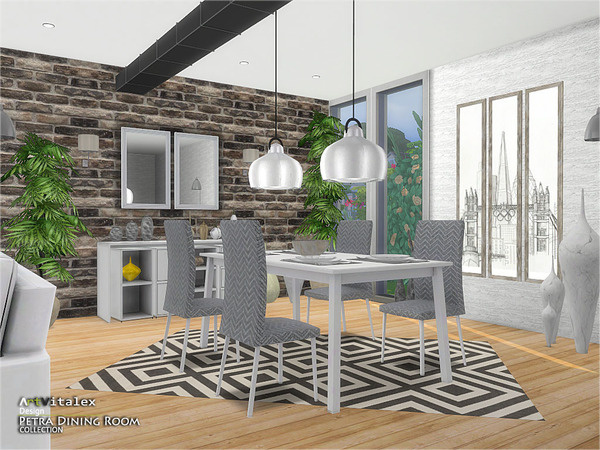Petra Dining Room by ArtVitalex at TSR image 2118 Sims 4 Updates