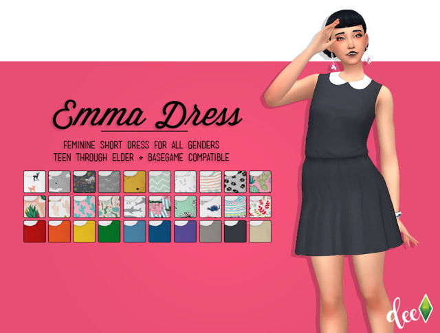 Sims 4 Emma Dress at Deetron Sims