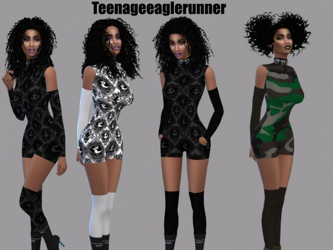 Acc Cutout Catsuit at Teenageeaglerunner image 2154 670x503 Sims 4 Updates