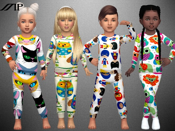 Sims 4 MP Toddler Printed PJ by MartyP at TSR
