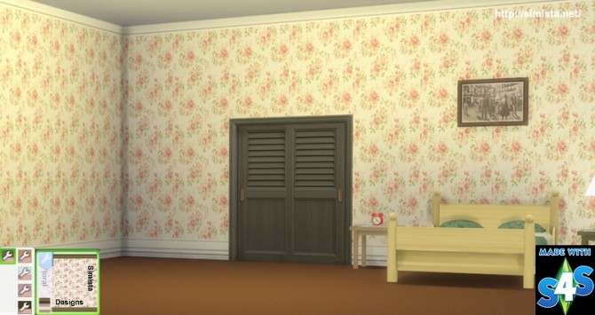 Sims 4 Floral Designs wallpaper at Simista