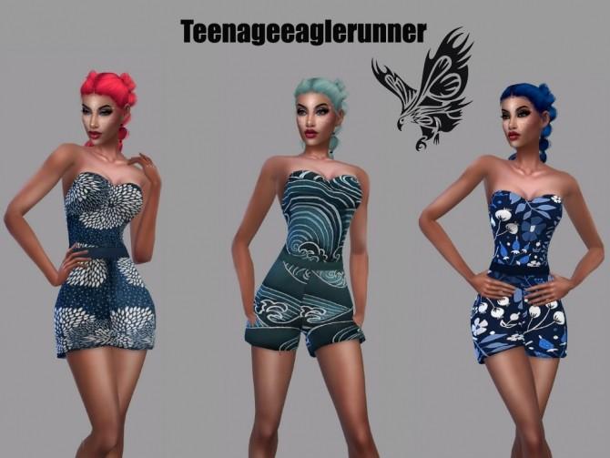 Sims 4 Summer Romper Recolor at Teenageeaglerunner