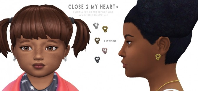 Close 2 My Heart Earrings V.2 at Onyx Sims image 218 670x310 Sims 4 Updates