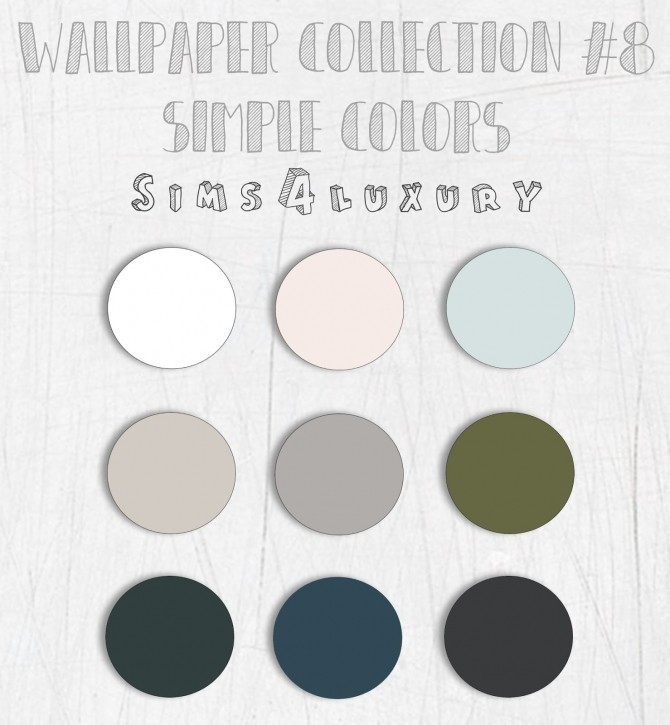 Sims 4 Wallpaper Collection #8 (Without tiles) at Sims4 Luxury