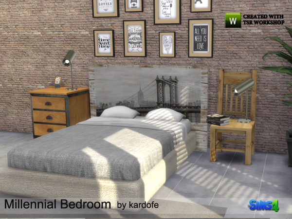 Millennial Bedroom by kardofe at TSR image 22 Sims 4 Updates