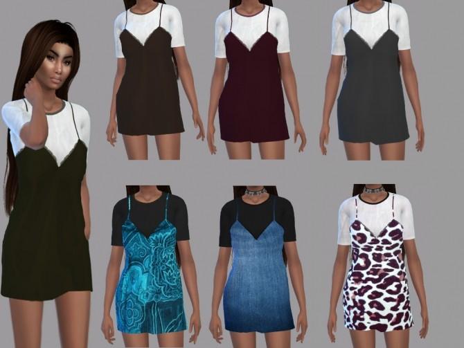 Sims 4 Dentelle Dress Recolor at Teenageeaglerunner