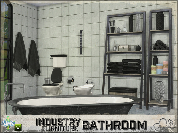 Bathroom Industry Furnitures by BuffSumm at TSR image 2211 Sims 4 Updates