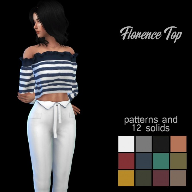 Sims 4 Florence Top at Leo Sims
