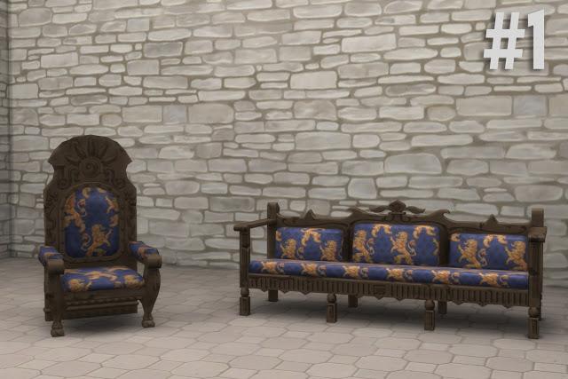 Sims 4 TSM to TS4 Sofa & Armchairs at Historical Sims Life