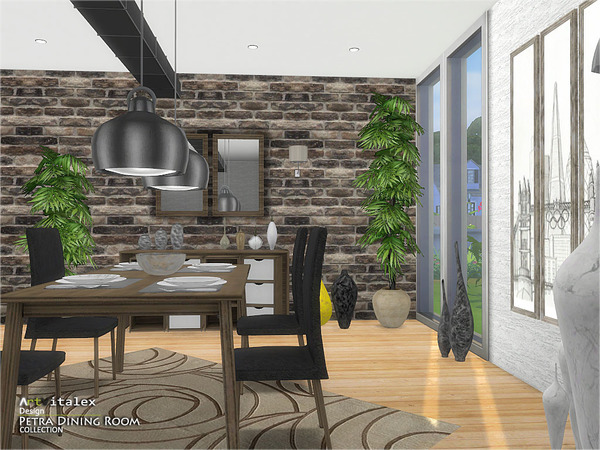 Petra Dining Room by ArtVitalex at TSR image 2217 Sims 4 Updates