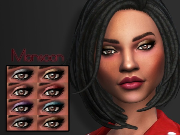 KM Monsoon Eyeshadow by Kitty.Meow at TSR image 2219 Sims 4 Updates