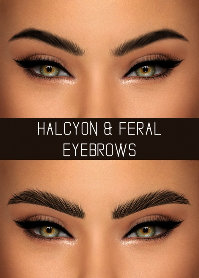 HALCYON & FERAL EYEBROWS at Simpliciaty » Sims 4 Updates