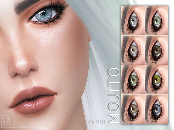 Mojito Eye Mask by Screaming Mustard at TSR image 2228 Sims 4 Updates