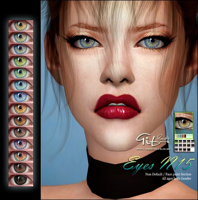 Eyes N15 ND at Tifa Sims image  Sims 4 Updates