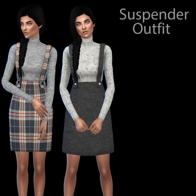 Sims 4 Suspender Outfit at Leo Sims