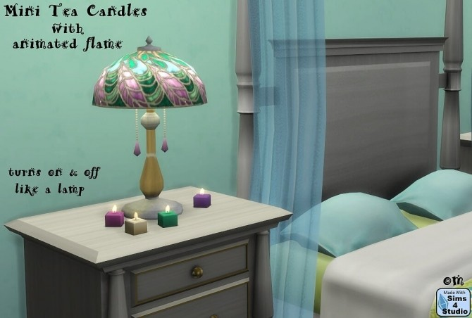 Mini tea candles with animated flame at Sims 4 Studio image 229 670x452 Sims 4 Updates