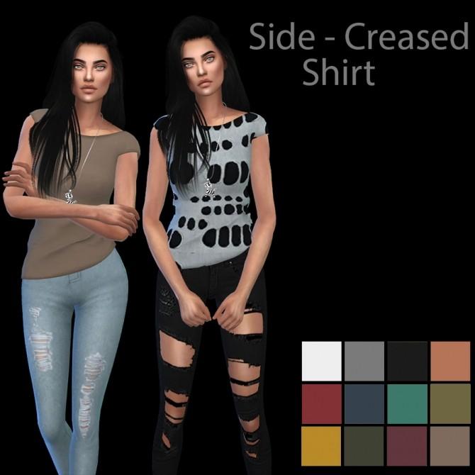 Sims 4 Side Creased Shirt at Leo Sims