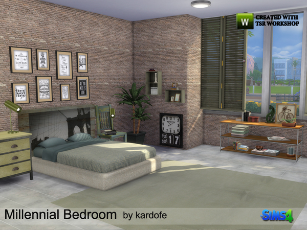Millennial Bedroom by kardofe at TSR image 23 Sims 4 Updates