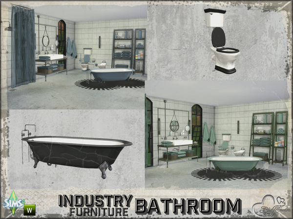 Bathroom Industry Furnitures by BuffSumm at TSR image 2310 Sims 4 Updates