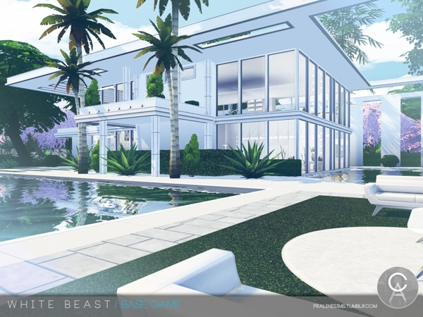 White Beast home by Pralinesims at TSR image 2312 Sims 4 Updates
