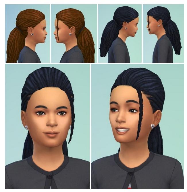 Sims 4 Kiddi's Morning Dreads at Birksches Sims Blog