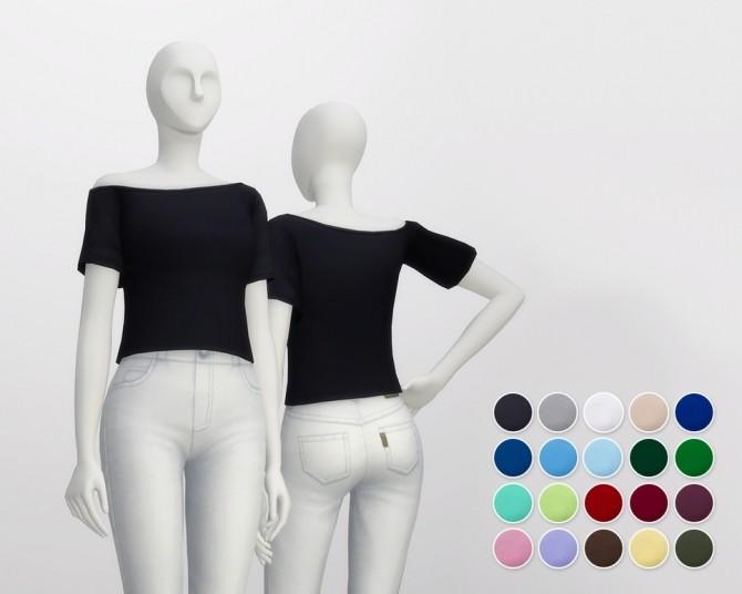 Basic T shirt F V3 (20 colors) at Rusty Nail image 2337 670x536 Sims 4 Updates