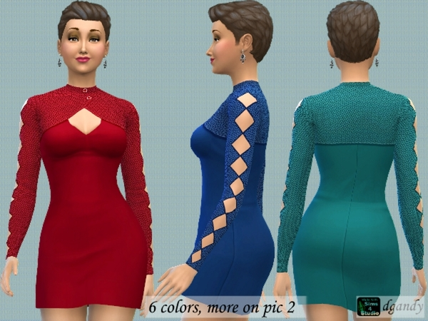 Dress with Bolero by dgandy at TSR image 2339 Sims 4 Updates