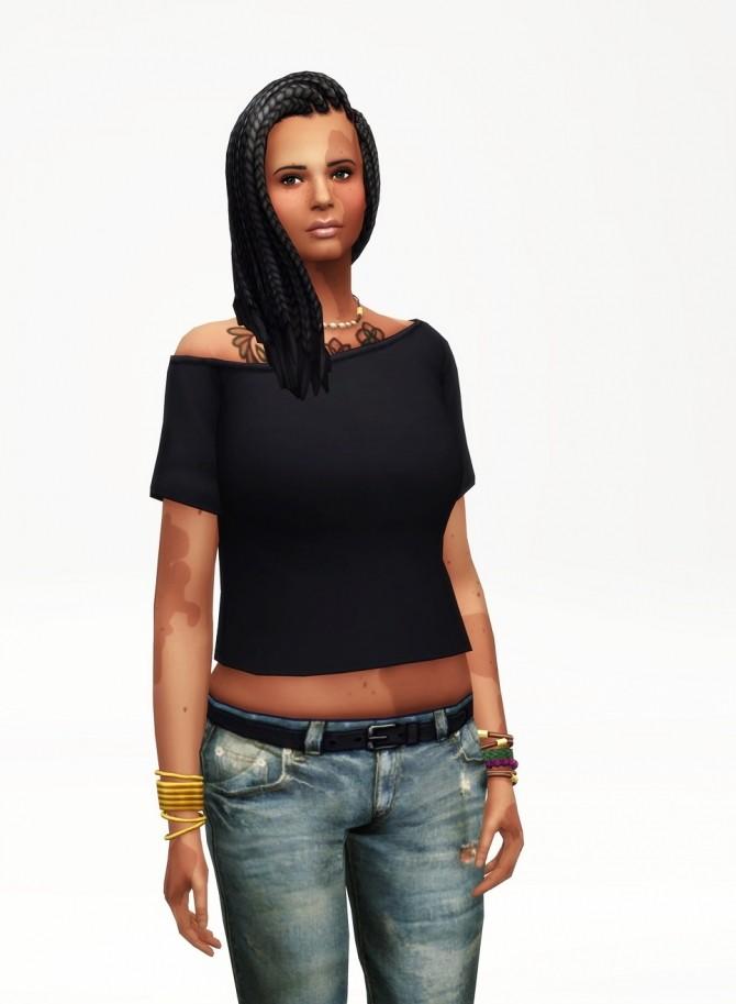 Basic T shirt F V3 (20 colors) at Rusty Nail image 2346 670x913 Sims 4 Updates